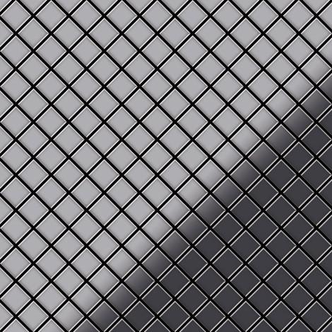 Azulejo mosaico de metal sólido Acero inoxidable Marine pulido espejo gris 1,6 mm de grosor ALLOY Diamond-S-S-MM 0,91 m2