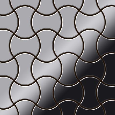 Azulejo mosaico de metal sólido Acero inoxidable Marine pulido espejo gris 1,6 mm de grosor ALLOY Infinit-S-S-MM diseñado por Karim Rashid 0,91 m2