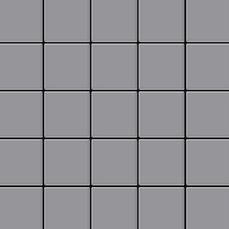 Azulejo mosaico de metal sólido Acero inoxidable mate gris 1,6 mm de grosor ALLOY Century-S-S-MA 0,5 m2