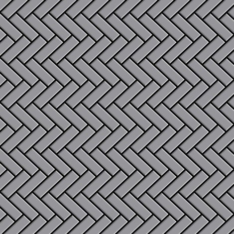 Azulejo mosaico de metal sólido Acero inoxidable mate gris 1,6 mm de grosor ALLOY Herringbone-S-S-MA 0,85 m2