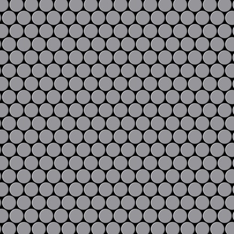 Azulejo mosaico de metal sólido Acero inoxidable mate gris 1,6 mm de grosor ALLOY Penny-S-S-MA 0,88 m2