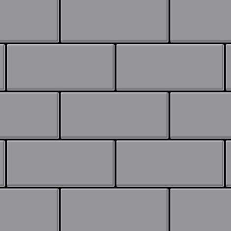 Azulejo mosaico de metal sólido Acero inoxidable mate gris 1,6 mm de grosor ALLOY Subway-S-S-MA 0,58 m2