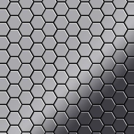 """main image of """"Azulejo mosaico de metal sólido Acero inoxidable pulido espejo gris 1,6 mm de grosor ALLOY Honey-S-S-M 0,92 m2"""""""