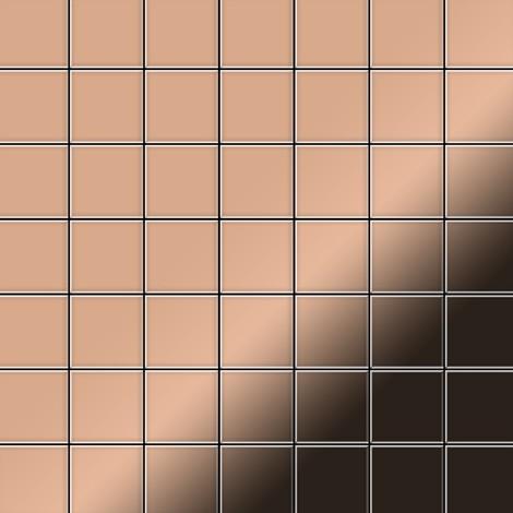 Azulejo mosaico de metal sólido Cobre laminado cobre 1,6 mm de grosor ALLOY Attica-CM 0,85 m2