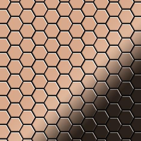 Azulejo mosaico de metal sólido Cobre laminado cobre 1,6 mm de grosor ALLOY Honey-CM 0,92 m2