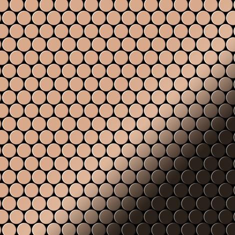 Azulejo mosaico de metal sólido Cobre laminado cobre 1,6 mm de grosor ALLOY Penny-CM 0,88 m2