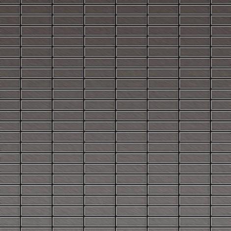 Azulejo mosaico de metal sólido Titanio Smoke cepillado gris oscuro 1,6 mm de grosor ALLOY Cabin-Ti-SB 1,01 m2