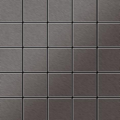 Azulejo mosaico de metal sólido Titanio Smoke cepillado gris oscuro 1,6 mm de grosor ALLOY Century-Ti-SB 0,5 m2