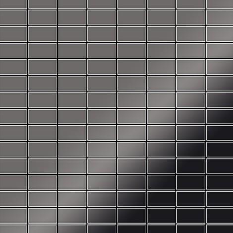 Azulejo mosaico de metal sólido Titanio Smoke espejo gris oscuro 1,6 mm de grosor ALLOY Bauhaus-Ti-SM 1,05 m2