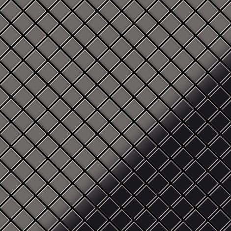 Azulejo mosaico de metal sólido Titanio Smoke espejo gris oscuro 1,6 mm de grosor ALLOY Diamond-Ti-SM 0,91 m2