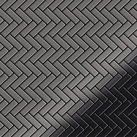 Azulejo mosaico de metal sólido Titanio Smoke espejo gris oscuro 1,6 mm de grosor ALLOY Herringbone-Ti-SM 0,85 m2
