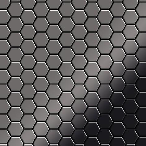 Azulejo mosaico de metal sólido Titanio Smoke espejo gris oscuro 1,6 mm de grosor ALLOY Honey-Ti-SM 0,92 m2