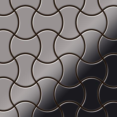 Azulejo mosaico de metal sólido Titanio Smoke espejo gris oscuro 1,6 mm de grosor ALLOY Infinit-Ti-SM diseñado por Karim Rashid 0,91 m2