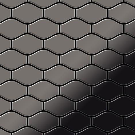 Azulejo mosaico de metal sólido Titanio Smoke espejo gris oscuro 1,6 mm de grosor ALLOY Karma-Ti-SM diseñado por Karim Rashid 0,86 m2