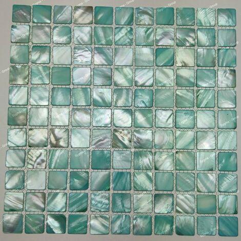 azulejo y mosaico en nácar para piso y pared Nacarat Vert