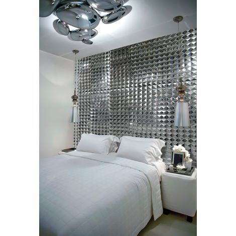 Azulejos 3d de azulejo de pared metal modelo RAMSES
