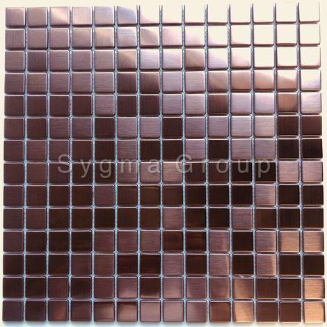 azulejos de acero inoxidable color cobre para la cocina o el baño CARTO CUIVRE