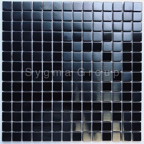 azulejos de acero inoxidable color negro para la cocina o el baño CARTO NOIR