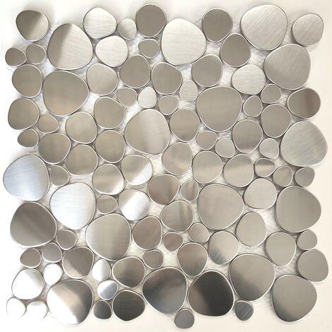 Azulejos de acero inoxidable para cocina y baño y suelo de ducha Atoll