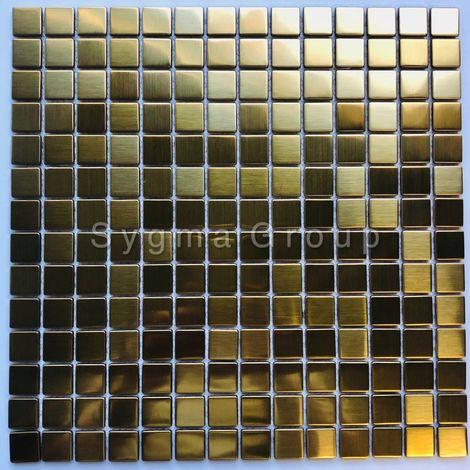 azulejos de acero inoxidable para la cocina o el baño CARTO GOLD