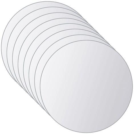 Azulejos de espejo redondos de vidrio 16 unidades