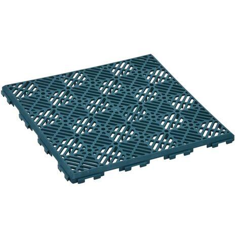Azulejos de jardín 24 unidades plásico verde 29x29 cm