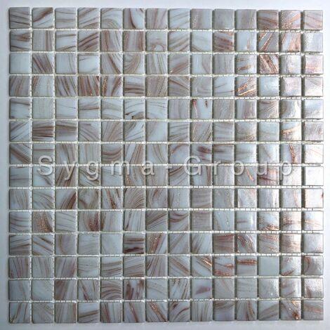 azulejos de mosaico de vidrio para el baño Speculo Blanc