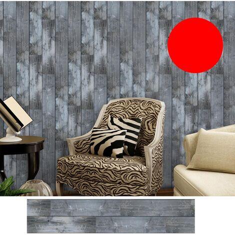 Azulejos pegatinas 1PC auto-adhesivo de madera del grano retro impermeable de PVC desprendibles de la pared Las etiquetas engomadas DIY Fondos de Cocina Bano Casa Proteccion Ordenado, 1 #