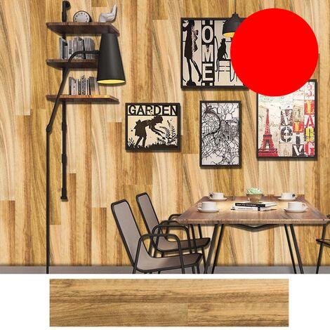 Azulejos pegatinas 1PC auto-adhesivo de madera del grano retro impermeable de PVC desprendibles de la pared Las etiquetas engomadas DIY Fondos de Cocina Bano Casa Proteccion Ordenado, 3 #