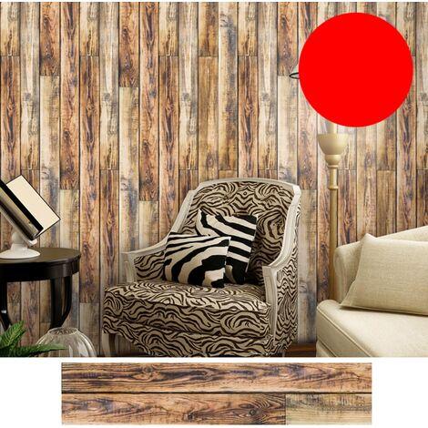Azulejos pegatinas 1PC auto-adhesivo de madera del grano retro impermeable de PVC desprendibles de la pared Las etiquetas engomadas DIY Fondos de Cocina Bano Casa Proteccion Ordenado, 8 #