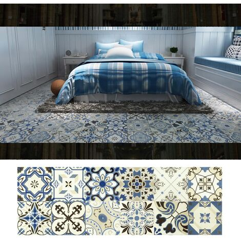 Azulejos pegatinas 1PC Retro Auto adhesivo impermeable de PVC desprendibles de la pared Las etiquetas engomadas DIY Fondos de Cocina Bano Casa Proteccion Ordenado, 6 #