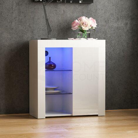 """main image of """"Azura 1 Door LED Sideboard, White"""""""