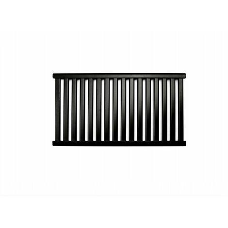 AZURE | Radiateur eau chaude design horizontal Acier 54x98 cm Puissance 571 W | Radiateur 16 lames chauffage central Entraxe 500mm - Noir