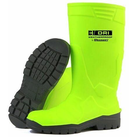 "main image of ""B-Dri Footwear FULL SAFETY FLUORO WELLINGTON BOOT S/Y 10.5/45 (Pair)"""