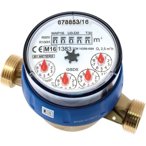 B Meters water counter to Dial sec GSD5 1/2""