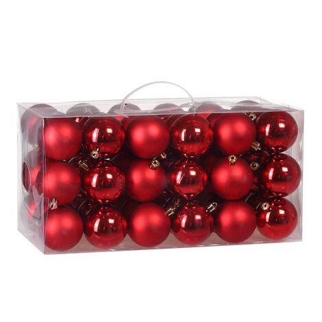 B-Stock Christmas Tree Baubles 54 Pieces Set Christmas Tree Balls Indoor Outdoor