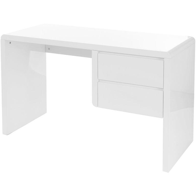B-Ware Schreibtisch 262, Computertisch Bürotisch, hochglanz weiß 75x120x50cm - HHG