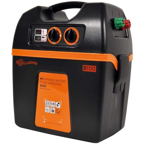 B100 battery charger 9V/12V professional for fences up to 3km for horses, farm animals and wildlife
