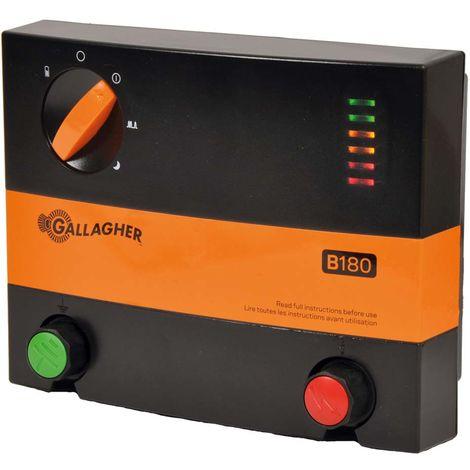 B180 Chargeur de batterie Multi Power 12V professionnel pour clôtures jusqu'à 5km pour chevaux, animaux sauvages et animaux de ferme