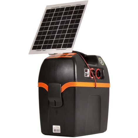 B200 electric unit with integrated solar panel and 12V battery for fences up to 5km professional Gallagher for horses, cattle, pigs, sheep and goats