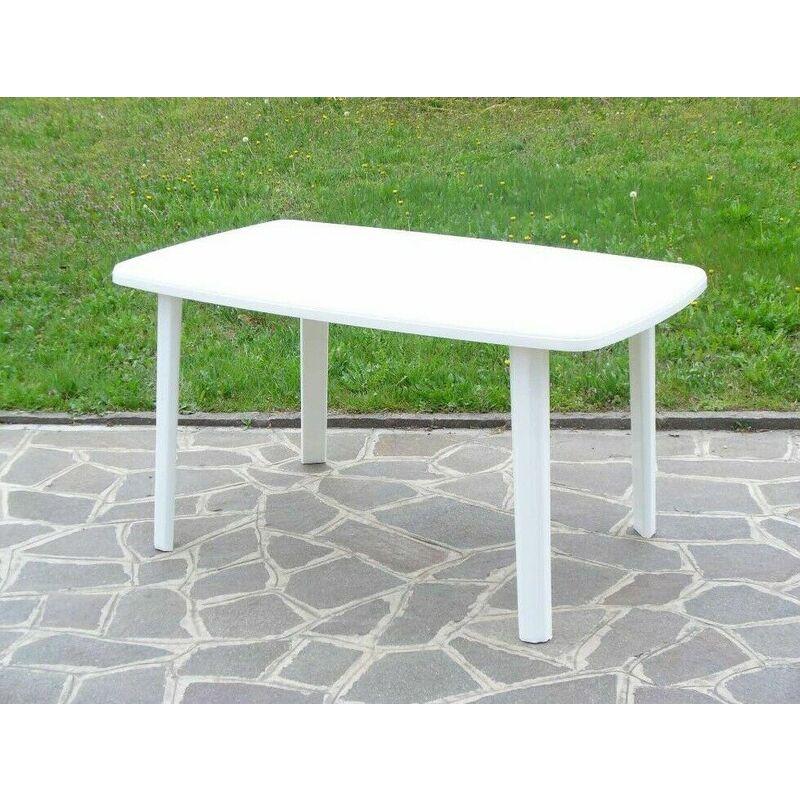 Tavolo ovale rettangolare in resina 137x85 cm bianco da giardino esterno