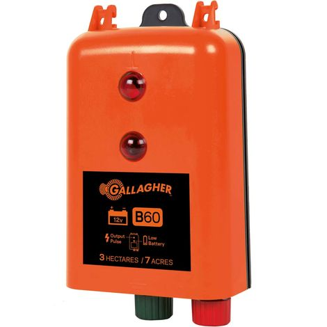 B60 professional rechargeable 12V battery charger for fences up to 2 km for horses and farm animals