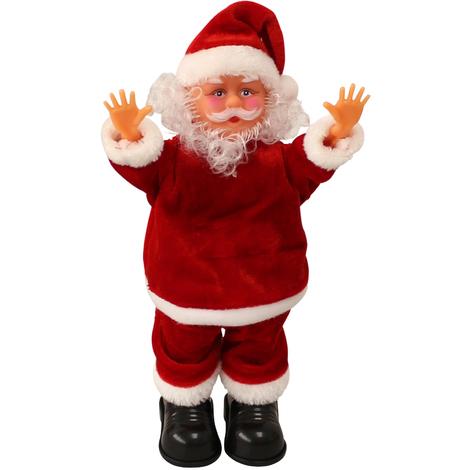 Immagini Che Si Muovono Di Natale.Babbo Natale Che Canta E Balla E Fa La Verticale 31cm Decorazione Natalizia Modellino Musicale Di Santa Claus Che Si Muove Natale Santa Claus