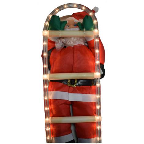 Babbo Natale 50.Babbo Natale Rampicante Wimex 50 Cm Illuminabile 4504208