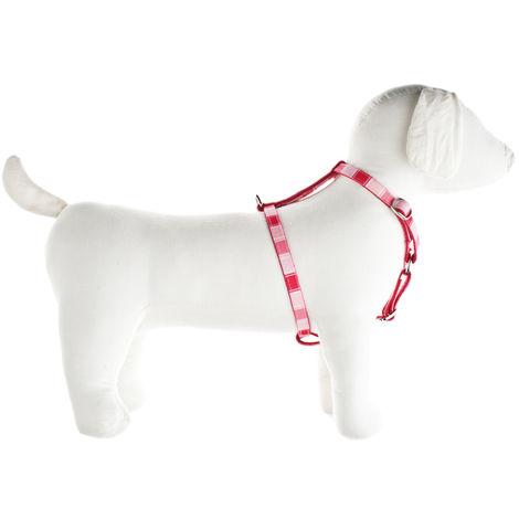 Babero de nylon rosa para perros Ferribiella