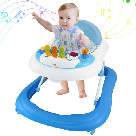 Baby Activity Center, Baby Walker, Blue Pattern with Toys, Age range: 6 to 18 months