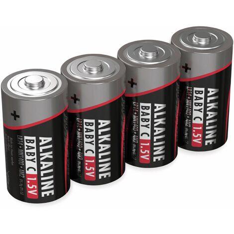 Baby-Batterie ANSMANN, Alkaline, C / LR14, 1,5 V-, 4 Stück