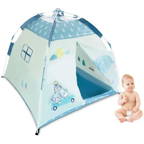 Baby Beach Sun Shelter, Children Pop Up Tent, Blue pattern, Material: 210D Oxford fabric, Fibreglass