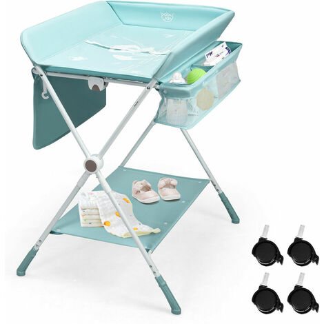"""main image of """"Baby Changer Unit Table Nursery Changing Station Bath Mat Foldable Space-Saving"""""""