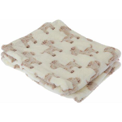 "main image of ""Baby Cupcake/Giraffe Design Boy/Girl Soft Pram Blanket"""